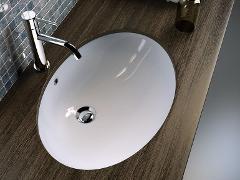 Lavabo sottopiano Rosa Cesame Superamerica ovale
