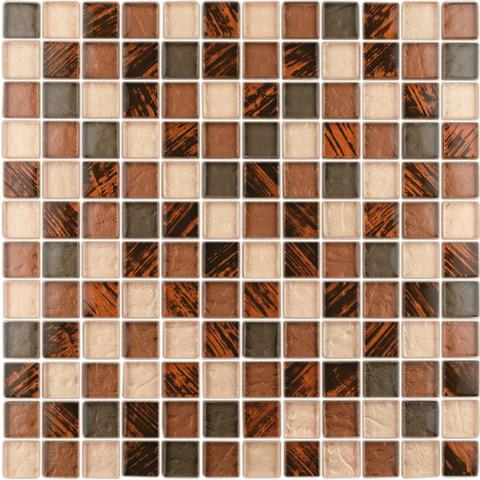Mosaico vetro su rete 30x30 B&B VETRO MIX RAME