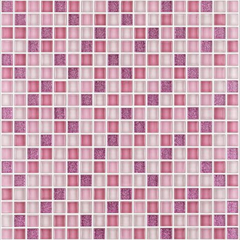 Mosaico vetro su rete 30x30 B&B Vetro mix sunrise