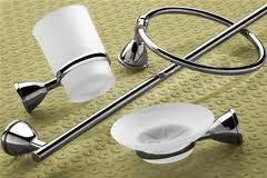 Set accessori 8pz genziana cromo Gedy Genziana