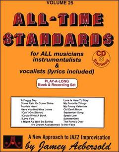 AEBERSOLD VOL. 25 ALL TIME STANDARDS CON 2 CD