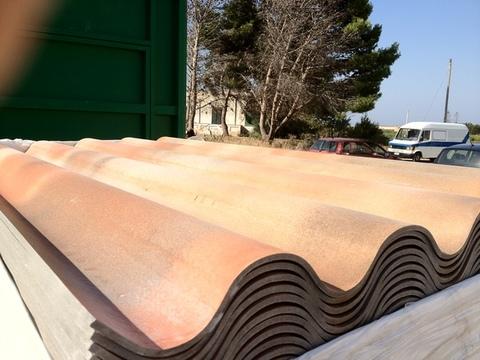 Lastre copeture cemento antichizzato e lastre alluminio grecate e coppo a Marsala e Trapani.
