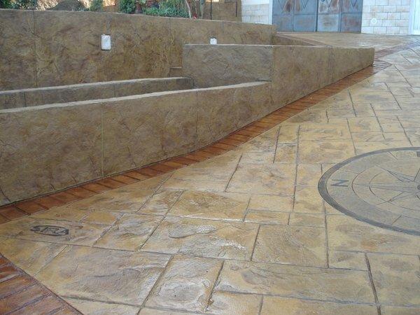 Calcestruzzo Stampato Sicilia : Lavorazione pavimento stampato sicilia sira pavimenti nicosia enna