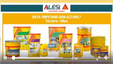I migliori prodotti di alta qualità a marchio Sika Italia della linea Impermeabilizzanti.