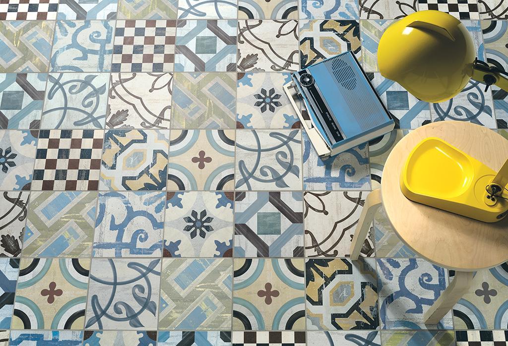 Cementine piastrelle in gres porcellanato per pavimenti esterni e