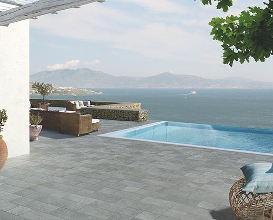 Pavimenti rivestimenti ceramiche piastrelle patio linea gresplus casalgrande padana alcamo - Roca piastrelle bagno ...
