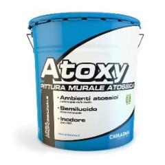 Atoxy, idropittura acrilica semi-lucida per ambienti ad igiene incontrollata. Chiraema.