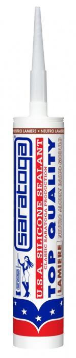 Silicone Sigillante Neutro Lamiere USA White, Neutro Lamiere - Per imprese d'installazione. Saratoga.