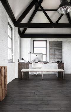Ceramiche Pavimenti Painted Grey 15x90. SAIME.