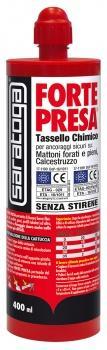 Forte Presa Tassello Chimico Poliestere Tassello chimico in cartucce da 400 ml. Saratoga.