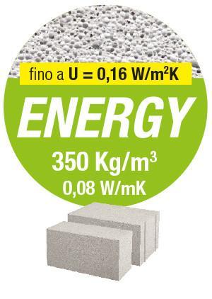 ENERGY, Il mattone che ottimizza le prestazioni di isolamento termico e acustico. Gasbeton
