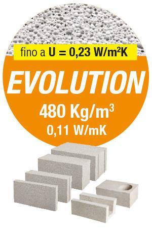 EVOLUTION, Il mattone idoneo per divisori interni fonoisolanti, resistenti al fuoco e per murature. Gasbeton