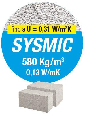 SYSMIC, Il mattone con portanza strutturale superiore a 50 kg/cm2 specifico per murature portanti. Gasbeton