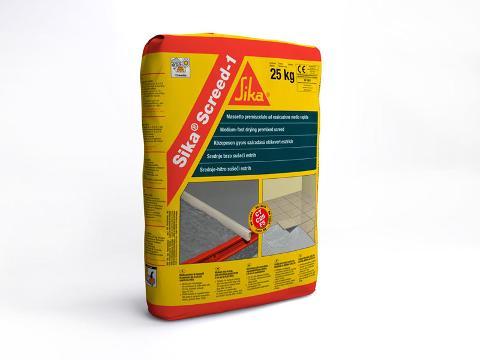 Sika® Screed-1 Premiscelato per la realizzazione di massetti. Classe CT C25 F5 secondo UNI EN 13813. Sika
