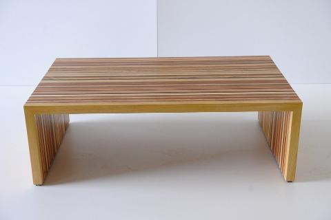 Tavolino in Legno massello rettangolare Invenzione d'Arredamento Multilegno