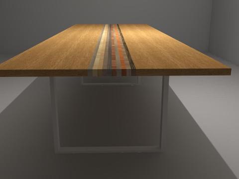 Tavolo in Legno con piedi in Ferro Invenzione d'Arredamento Rettangolare